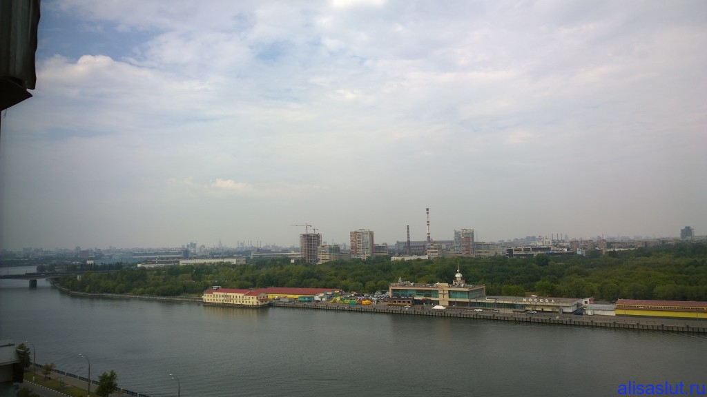 Вид на Москва-реку из окна квартиры