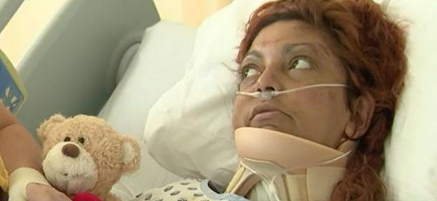 Попавшая в аварию женщина шесть дней не могла выбраться из машины