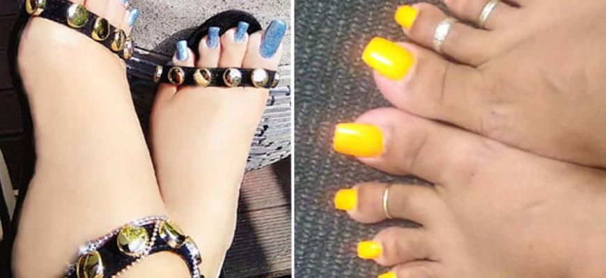 Длинные искусственные ногти на ногах пользователи сети посчитали уродством