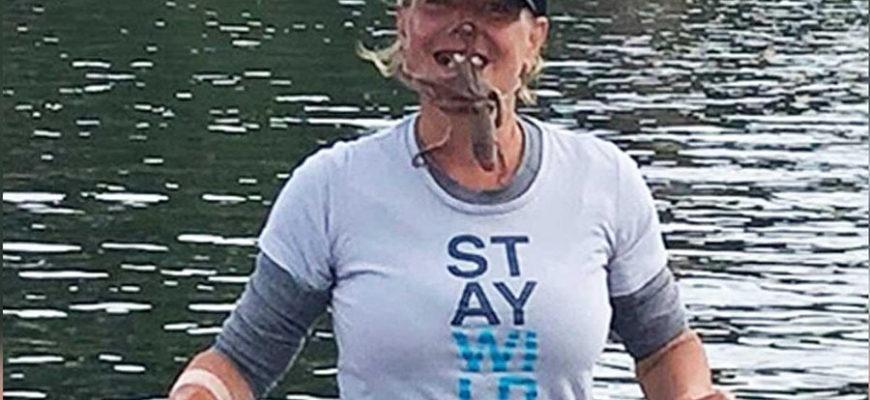 Женщина хотела сделать фото с осьминогом на лице и получила ядовитые укусы