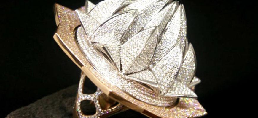 Ювелиры создали кольцо со 7777 бриллиантами и оно попало в Книгу рекордов Гиннеса