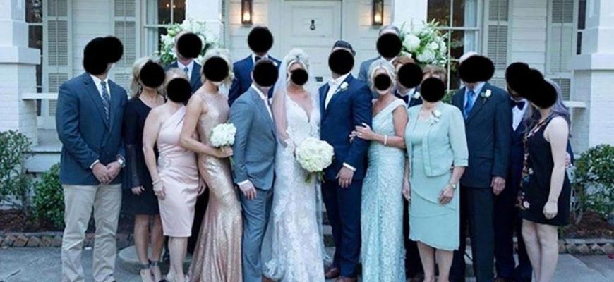 Мать жениха попыталась перещеголять невесту и вызвала смех в соцсетях