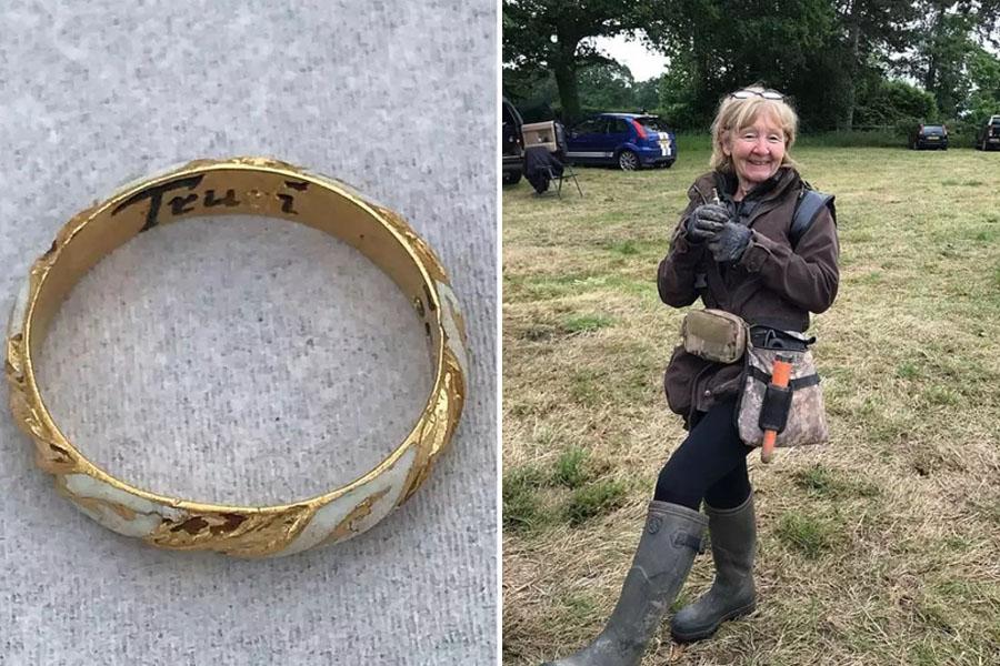 Пенсионерка из Англии нашла кольцо, которое могло принадлежать семье Шекспира