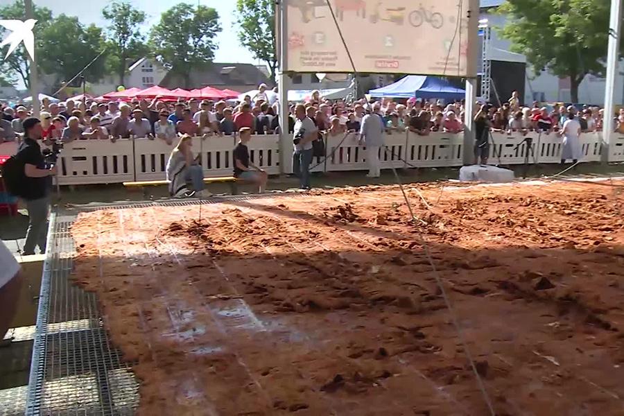 В Германии приготовили рекордных размеров шницель