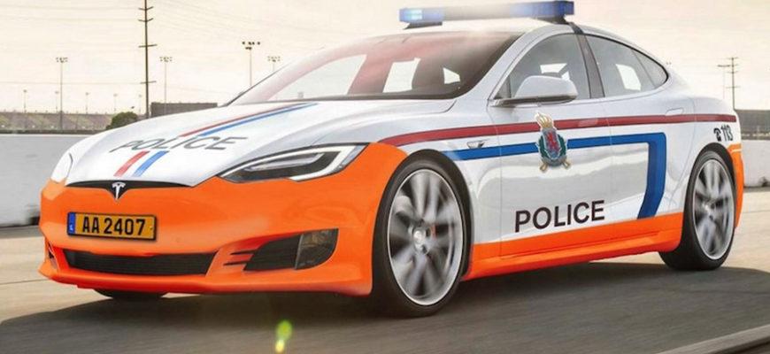 Tesla с полицейскими разрядилась во время преследования злоумышленников