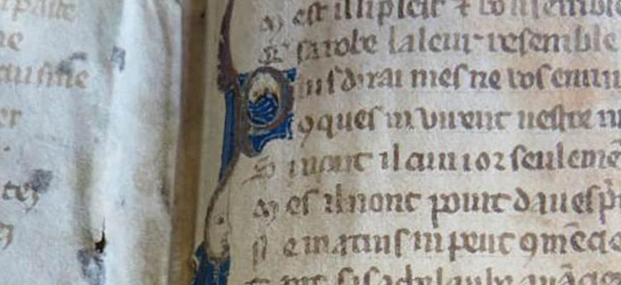 Фрагменты из средневекового романа в стиле «50 оттенков серого» были найдены в архивах