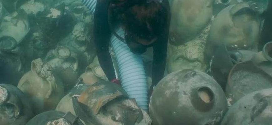 У берегов Майорки обнаружены римские амфоры, оставшиеся после кораблекрушения 1700 лет назад