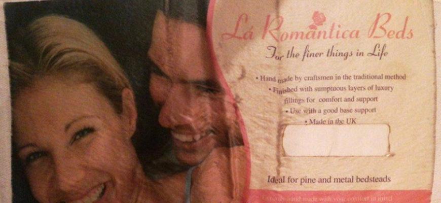 Жительница Великобритании приревновала своего парня к этикетке на матрасе