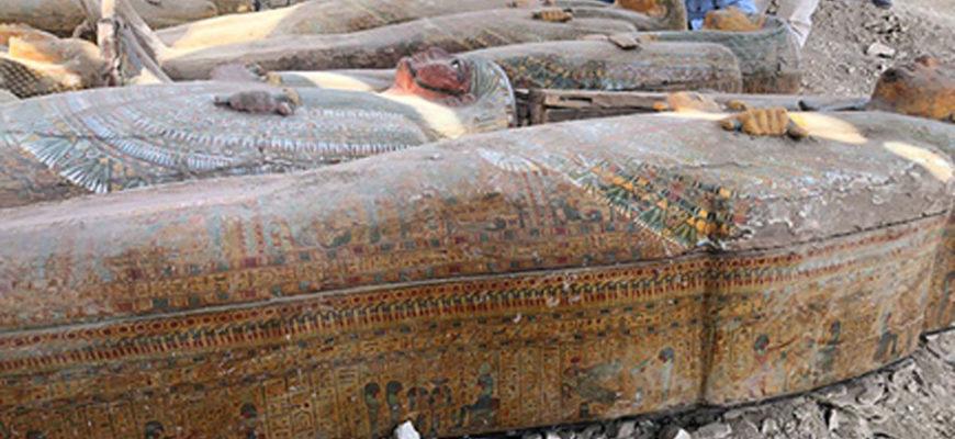 Огромный тайник с изысканными гробами найден в Египте