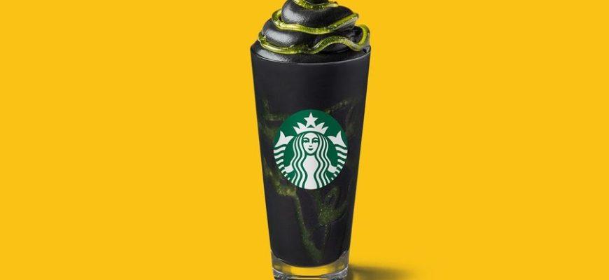 """В Starbucks появился """"опасный"""" черно-зеленый напиток к Хэллоуину"""