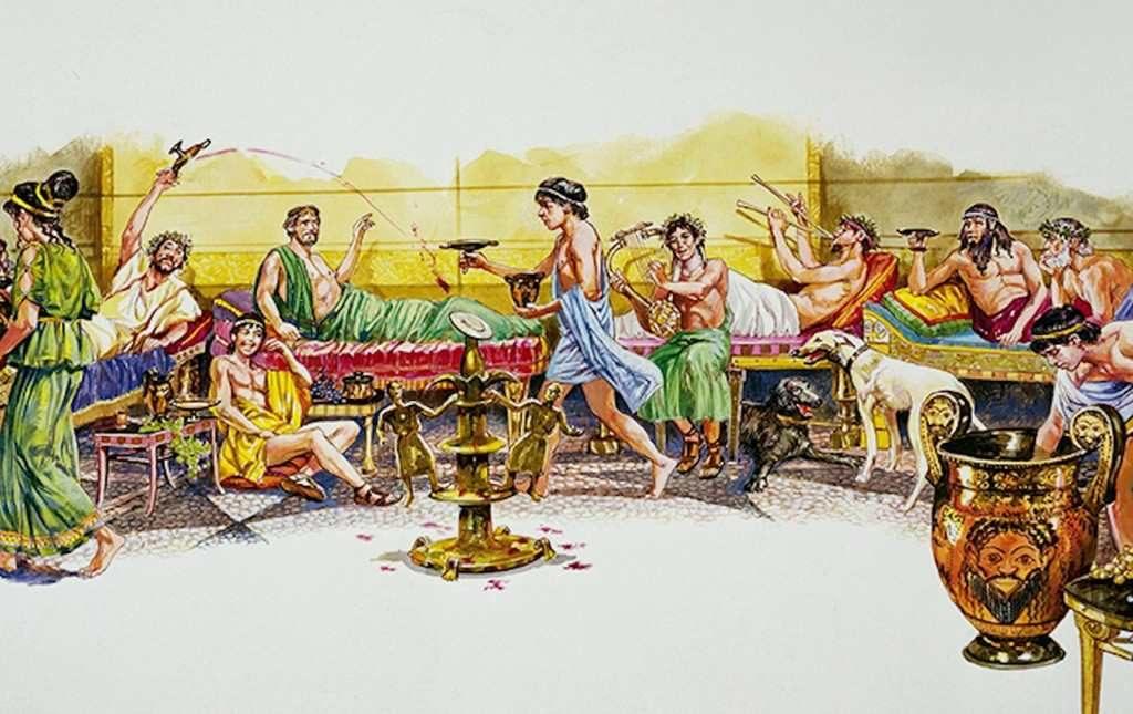 Вино было главным напитком на мероприятии