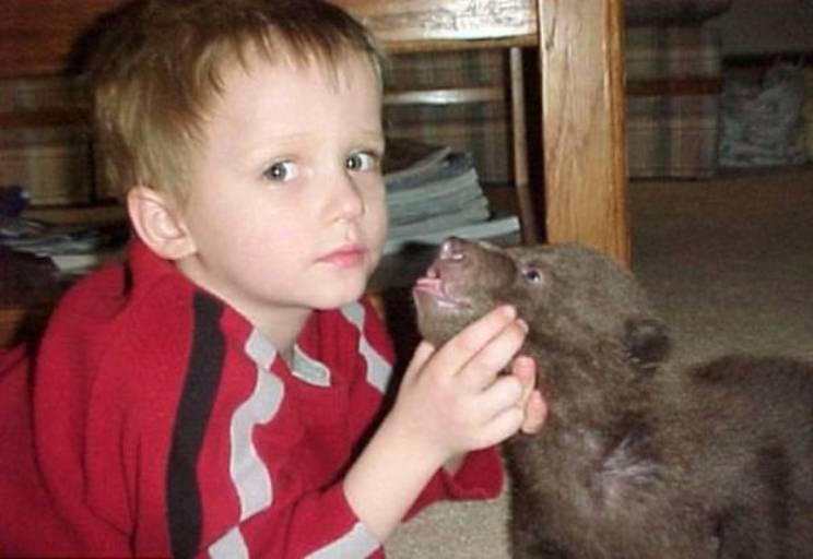 Медвежонок и ребенок