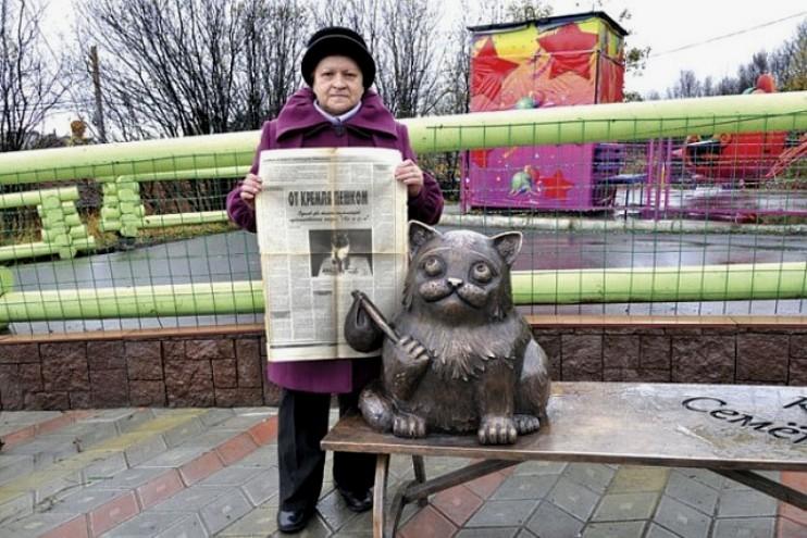 Памятник коту в Мурманске