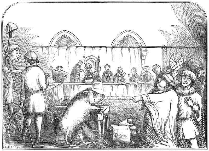 Суды над животными в Средневековье