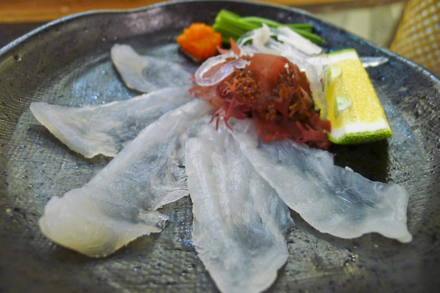 Приготовленная рыба фугу