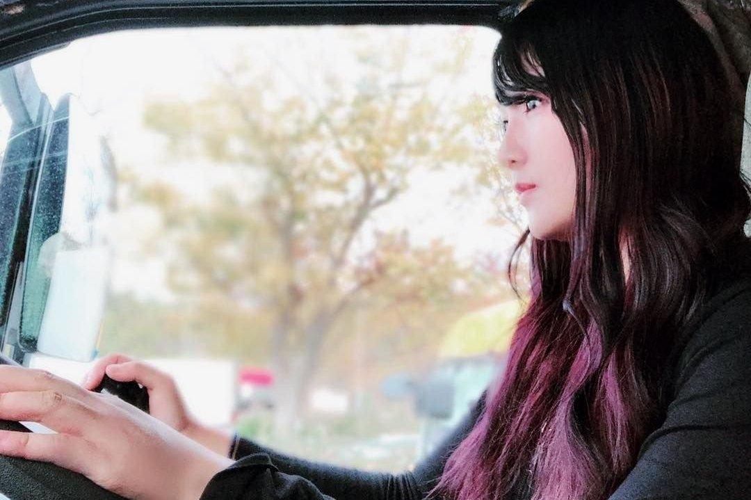Девушка дальнобойщица из Японии