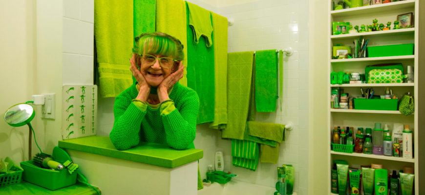 Художница в зеленом