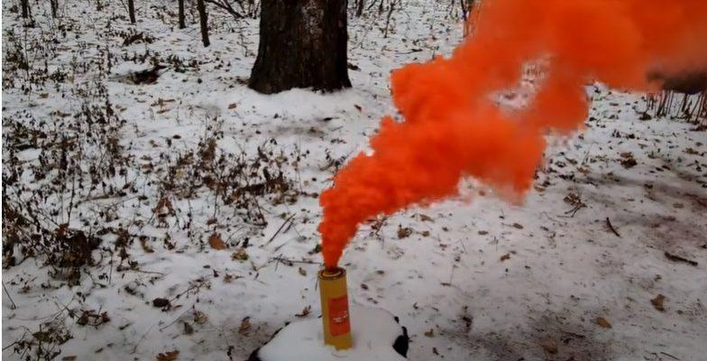 Цветные дымовые шашки
